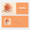 Color Block Baby Announcements - Orange