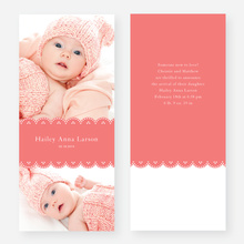 Elegant Birth Announcements - Pink