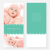 Elegant Birth Announcements - Blue
