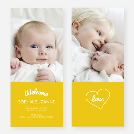Paper Culture Baby Birth Announcements