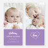 Heartstrings Birth Announcements - Purple