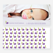 Strawberry Fields Forever Birth Announcements - Purple