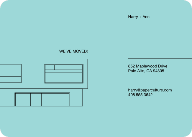 Minimalist moving announcement paper culture for Minimalist moving house