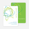 Abstract Moving Announcement Card - Lime Green