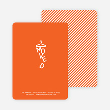 Characters Moved Change of Address Cards - Orange Scribble