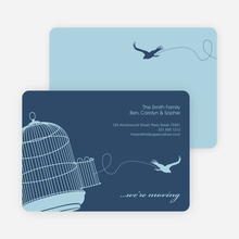 Flown the Coop Moving Announcement and Housewarming Invite - Steel Blue