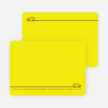 Less is More Simply Modern Moving Announcements - Electric Yellow