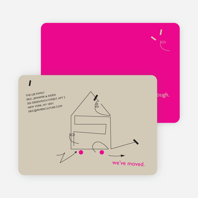 Line Art Moving Card - Concrete