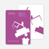 Modern Furniture Change of Address Card - Light Purple