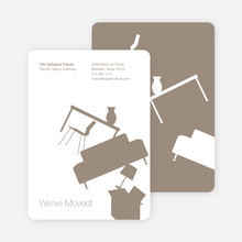 Modern Furniture Change of Address Card - Mocha