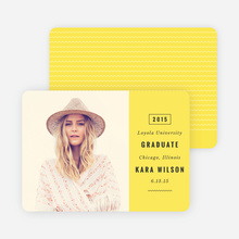 Modern Type Graduation Announcements - Yellow