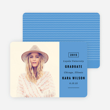 Modern Type Graduation Announcements - Blue