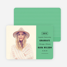 Modern Type Graduation Announcements - Green
