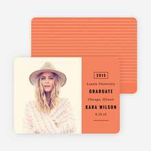 Modern Type Graduation Announcements - Orange