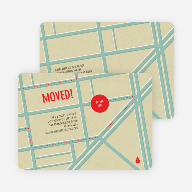 Moving Map Moving Announcements - Blue Pavement