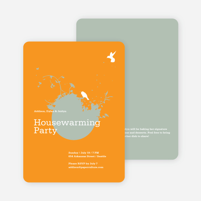 New Nest Housewarming Party Invitations - Pumpkin