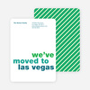Simply Text Minimalist Moving Announcements - Green House