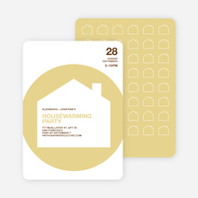 Spiral House Moving Cards - Golden Yellow