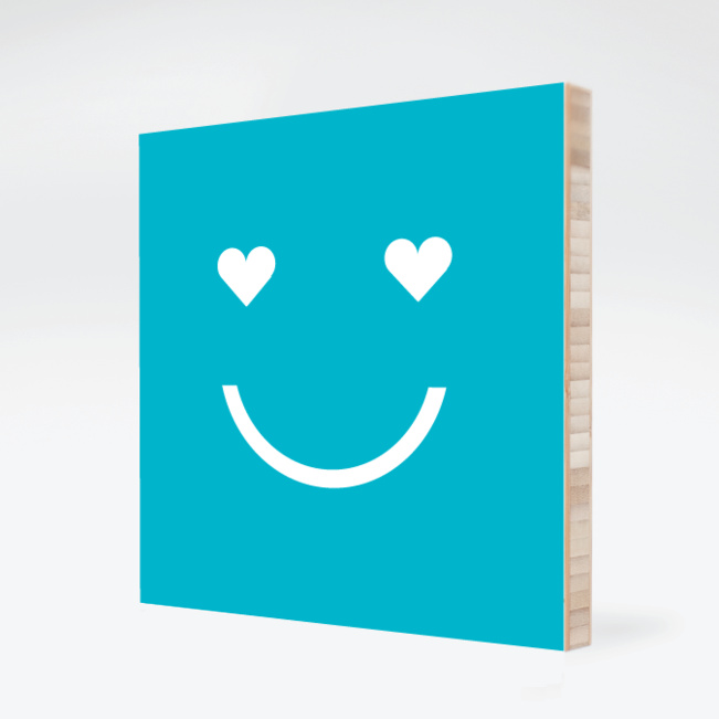 Smiling from the Heart: Bamboo Art - Royal Blue