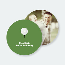Golf Lovers Gift: Custom Golf Coasters - Green