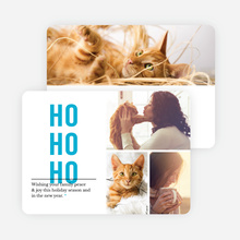 Ho Ho Ho Christmas Cards - Blue