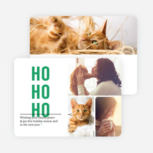 Ho Ho Ho Christmas Cards - Green