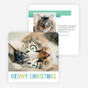 Meowy Christmas Christmas Cards - Blue