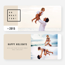 Modern Design Christmas Cards - Beige
