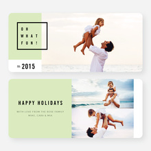 Modern Design Christmas Cards - Green