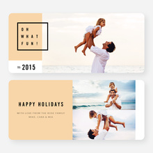Modern Design Christmas Cards - Orange