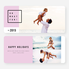 Modern Design Christmas Cards - Purple