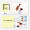 Modern Design Christmas Cards - Yellow