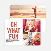 Picture Fun Christmas Cards - Red