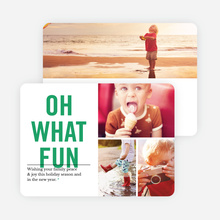 Picture Fun Christmas Cards - Green