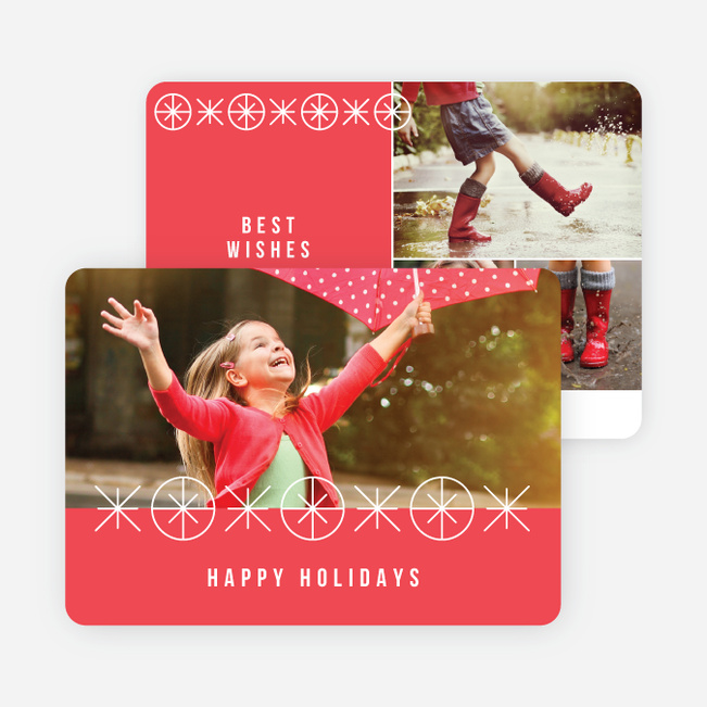 Joyful Ornaments Holiday Cards - Red