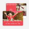 Ornaments and Stars Christmas Cards - Red