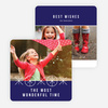 Ornaments and Stars Christmas Cards - Blue