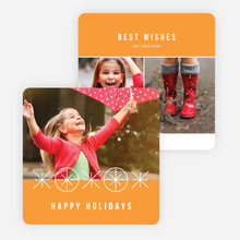 Joyful Ornaments Holiday Cards - Orange
