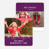 Ornaments and Stars Christmas Cards - Purple