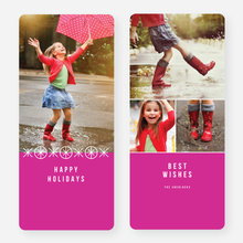 Joyful Ornaments Holiday Cards - Pink