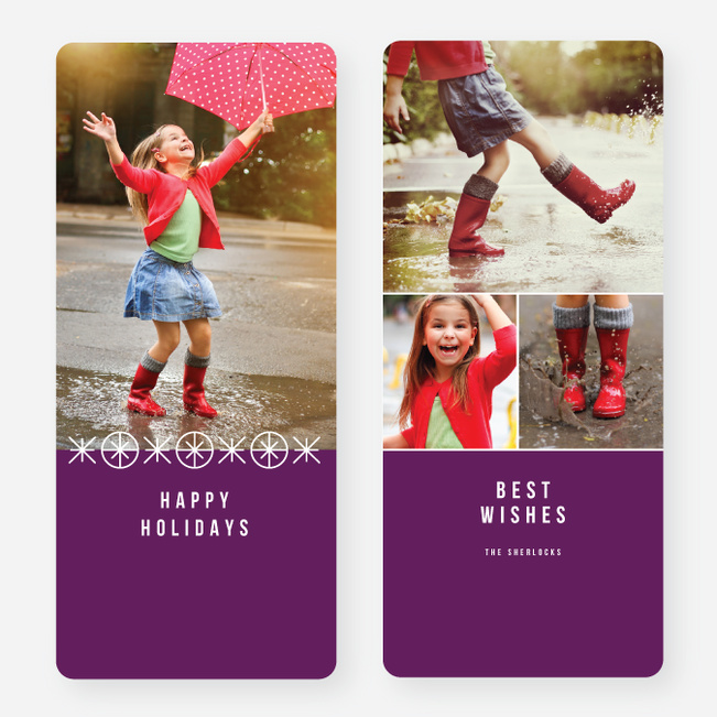 Joyful Ornaments Holiday Cards - Purple
