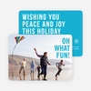 Holiday Wishes Christmas Cards - Blue