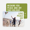 Big and Bold Text Holiday Cards - Green