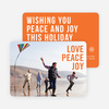 Big and Bold Text Holiday Cards - Orange
