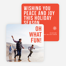 Holiday Wishes Christmas Cards - Red