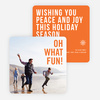 Holiday Wishes Christmas Cards - Orange