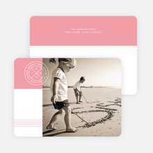 Modern Seal Holiday Cards - Pink