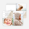 Diagonal Lines New Year Cards - Gray
