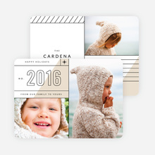 Slanted Lines Holiday Cards  - Gray