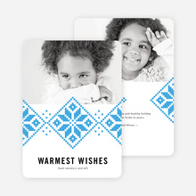 Sweater Weather Holiday Cards - Blue